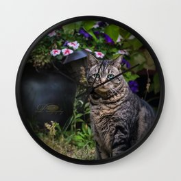 Oliver Posing Wall Clock
