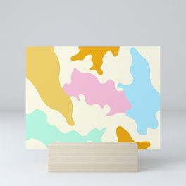 Abstract Colourful Coral Shapes Mini Art Print