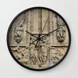 Milan Cathedral / Exteror Study / Piazza Duomo - Italy Wall Clock