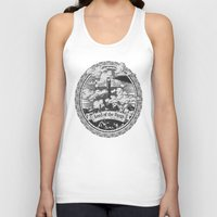 lotr Tank Tops featuring Lord of the Rings Mordor Tower Vintage Geek Art by Barrett Biggers