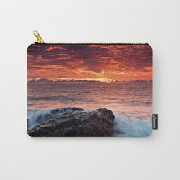 Sea water sunrise red Carry-All Pouch