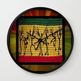 lively up reggae dancers (square) Wall Clock