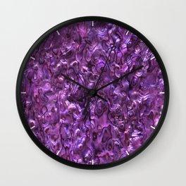 Abalone Shell   Paua Shell   Magenta Tint Wall Clock