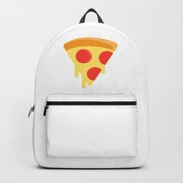 Pizza sticker. Fun cartoon mood. Backpack