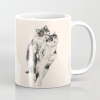 cats Mugs featuring Cats by Anna Shell