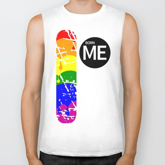 Freedom flag Rainbow Born Me Biker Tank