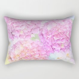 Pink Hortensias and other flowers Rectangular Pillow