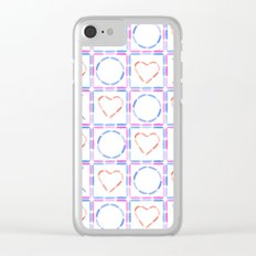 Hearts XOX Clear iPhone Case
