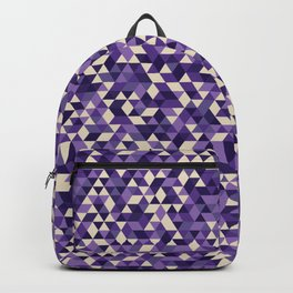 Purple Triangles Backpack