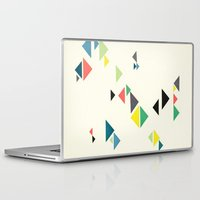 triangles Laptop & iPad Skins featuring Triangles by Cassia Beck