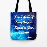 inspirational Tote Bags featuring Inspirational by 2sweet4words Designs