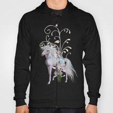 Fantasy Unicorn Floral Art Hoody