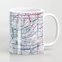 atlanta Mugs featuring Atlanta map by MapMapMaps.Watercolors