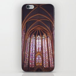 Stained Glass in Sainte Chapelle - Paris, France iPhone Skin