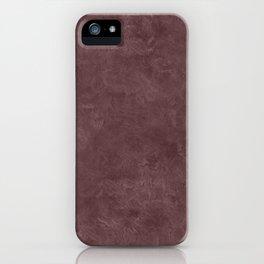 Deep Mahogany Oil Pastel Color Accent iPhone Case