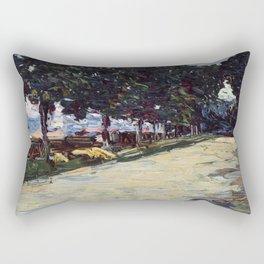 Park in St. Cloud, 1605, Old Masters Collection, Wassily Kandinsky Rectangular Pillow