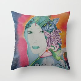 Gaia is Calling Throw Pillow