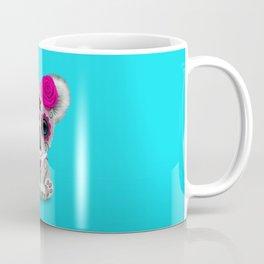 Pink and Blue Day of the Dead Sugar Skull Baby Koala Bear Coffee Mug