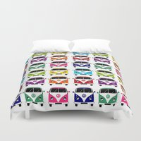 vw Duvet Covers featuring VW Campervan by chauloom
