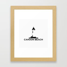 Cahoon Beach. Cape Cod Framed Art Print