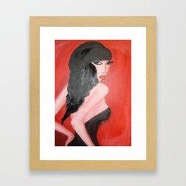 Vixen in Red Framed Art Print