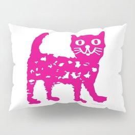 Magenta cat, cat pattern, cat design Pillow Sham