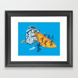 Bad Day At The Office Framed Art Print