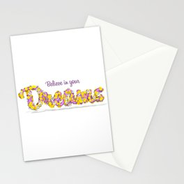 Believe in your dreams Art Print Stationery Cards
