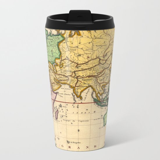 Vintage Map of the East Metal Travel Mug