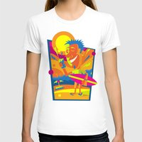 surfer T-shirts featuring Surfer by Roberlan Borges