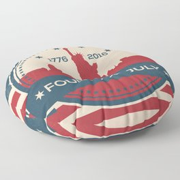 Fourth of July 2016 - New York Celebration Floor Pillow