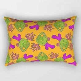 The Retro Coral Pattern Rectangular Pillow