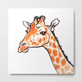 Kipawa the Giraffe Metal Print