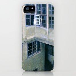 Interior Of Courtyard, Strandgade 30 - Digital Remastered Edition iPhone Case