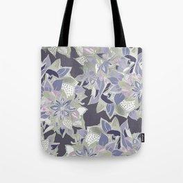 Mauve gray lavender silver watercolor floral Tote Bag