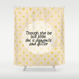 421 Dynamite and Glitter Shower Curtain