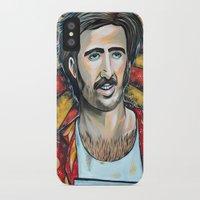 nicolas cage iPhone & iPod Cases featuring Raising Arizona Nicolas Cage by Portraits on the Periphery