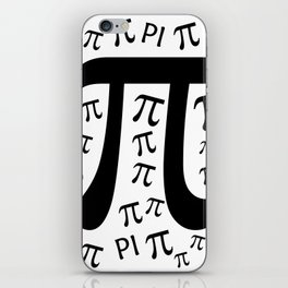 The Pi symbol mathematical constant irrational number, greek letter, background iPhone Skin