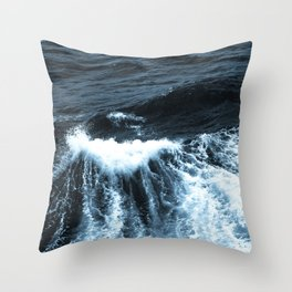 Dark Sea Waves Throw Pillow