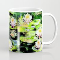 givenchy Mugs featuring Eight Waterlilies by Michele Avanti