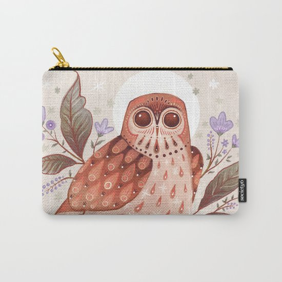 Owl Blooms Carry-All Pouch