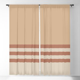 Cavern Clay SW 7701 and Creamy Off White SW7012 Horizontal Stripes on Ligonier Tan SW 7717 Blackout Curtain