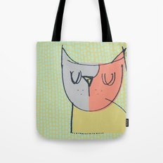 Cubist Cat Study #3 by Friztin Tote Bag