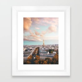 City of Love - Paris Sunset Wall Art Framed Art Print