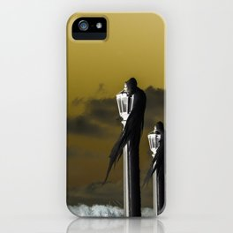 icicle lamp and tree - inverted iPhone Case