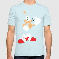 Sonic the Hedgehog - SEGA - Minimalist SMALL Light Blue Mens Fitted Tee