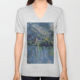 "Paul Cezanne ""The Lac d'Annecy"", 1896 Unisex V-Neck"