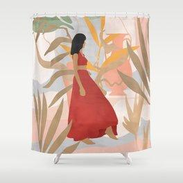 Lady Powers #illustration #Art Print Shower Curtain