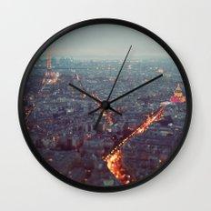 Blue Hour in Paris. Wall Clock