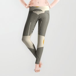 Abstraction_NEW_SUN_LINE_POP_ART_Minimalism_033BS Leggings